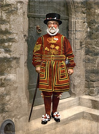 Yeomen Warders - Yeoman Warder in Tudor State Dress, c. 1895