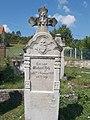 Deutscher Grabstein mit Herz, IHS und Kreuzreliefs, Cholera Friedhof, 2018 Zsámbék.jpg