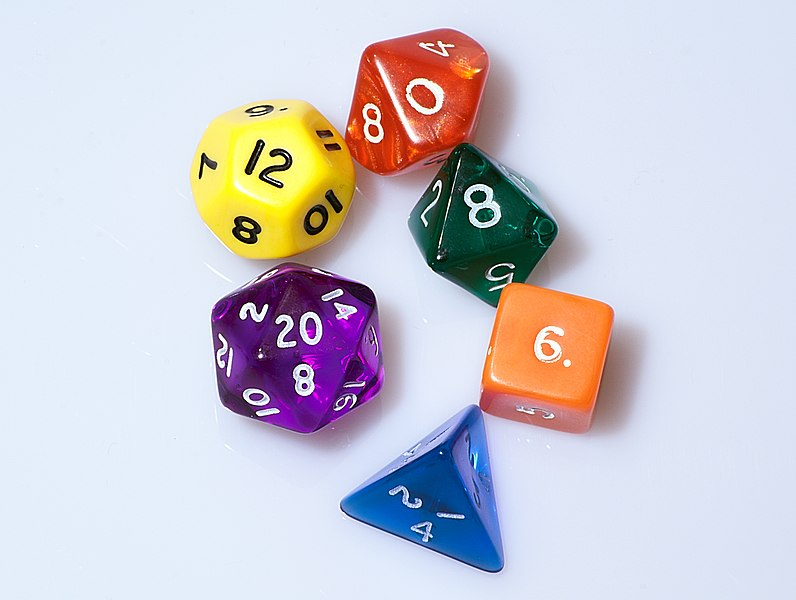 Bestand:Dice (typical role playing game dice).jpg