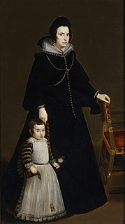 <i>Doña Antonia de Ipeñarrieta y Galdós and Her Son Don Luis</i> painting by Diego Velázquez