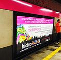Difusión de convocatoria en anden STC Metro.jpg