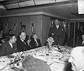 Diner Buitenlandse Persvereniging aan de Westerdam. Toespraak Minister Stikker, Bestanddeelnr 903-7951.jpg