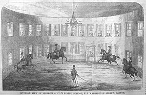 Washington Street (Boston) - Image: Disbrows Riding School Boston