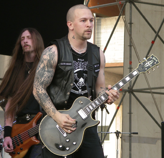 Dissection (band) - Dissection live in 2005. Vocalist and guitarist Jon Nödtveidt at front