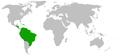 Distribution.Aviculariinae.Schmidt.2003.png