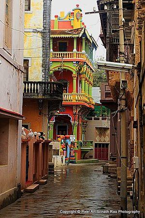 Diu, India - Street view of Diu