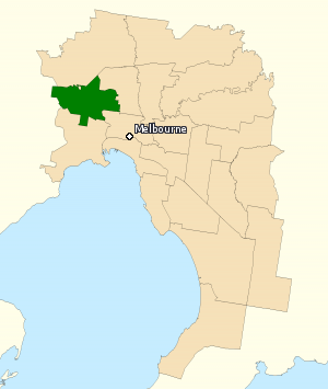 Division of Maribyrnong - Division of Maribyrnong in Victoria, as of the 2016 federal election.