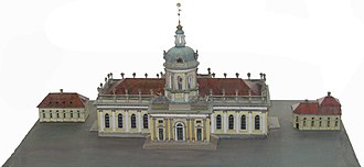 Berlin Cathedral - Miniature of the Supreme Parish Church in Berlin, as in 1750 J. Boumann the Elder built it.
