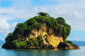 Los Haitises National Park - Nesting birds island in San Lorenzo bay