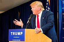 220px Donald Trump Laconia Rally%2C Laconia%2C NH 4 by Michael Vadon July 16 2015 19 - Donald Trump Administration Wikipedia