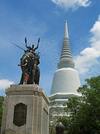 Naresuan - Don Chedi Monument at Suphan Buri, the royal monument of King Naresuan and the pagoda were built to commemorate the victory over the Burmese troops.