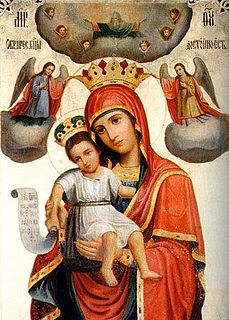 Axion Estin Marian hymn; chanted in the Divine Services of the Eastern Orthodox and Eastern Catholic Churches