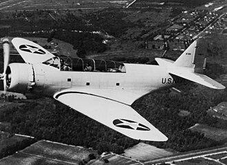 Douglas TBD Devastator - The XTBD-1 with the original flat canopy in 1935