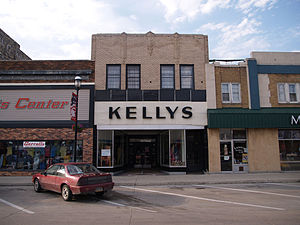 National Register of Historic Places listings in Ramsey County, North Dakota - Image: Downtown Devils Lake