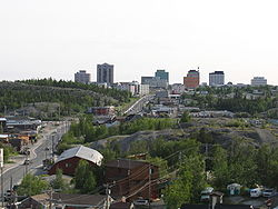 Downtown Yellowknife in early June