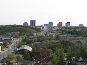 History of Northwest Territories capital cities - Downtown Yellowknife
