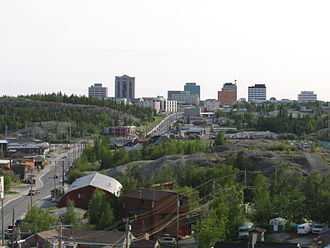 Yellowknife - View of Downtown Yellowknife. The downtown is home to most of the city's commercial activity.