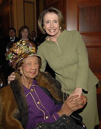 Dorothy Height - Dorothy Height with House Speaker Nancy Pelosi, 2009.