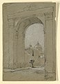 Drawing, A town gate in Mexico., 1888 (CH 18369763).jpg