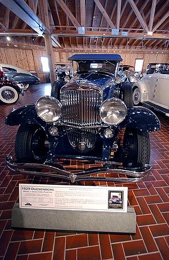 LeBaron Incorporated - Image: Duesenberg 1929 at Gilmore Car Museum 2011 11 11 02 54 52