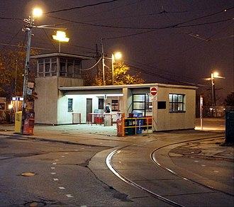 Dufferin Gate Loop - Image: Dufferin Loop station at night