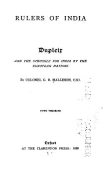 Dupleix and the Struggle for India by the European Nations.djvu