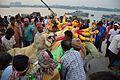 Durga Idol Immersion Procession - Baja Kadamtala Ghat - Kolkata 2015-10-22 6579.JPG
