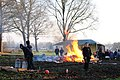 Dutch tradition, fires and carbid shooting at Silvester. Lots of fun for the boys - panoramio.jpg
