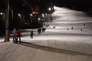 Åre ski resort - Night skiing in Hamrebacken
