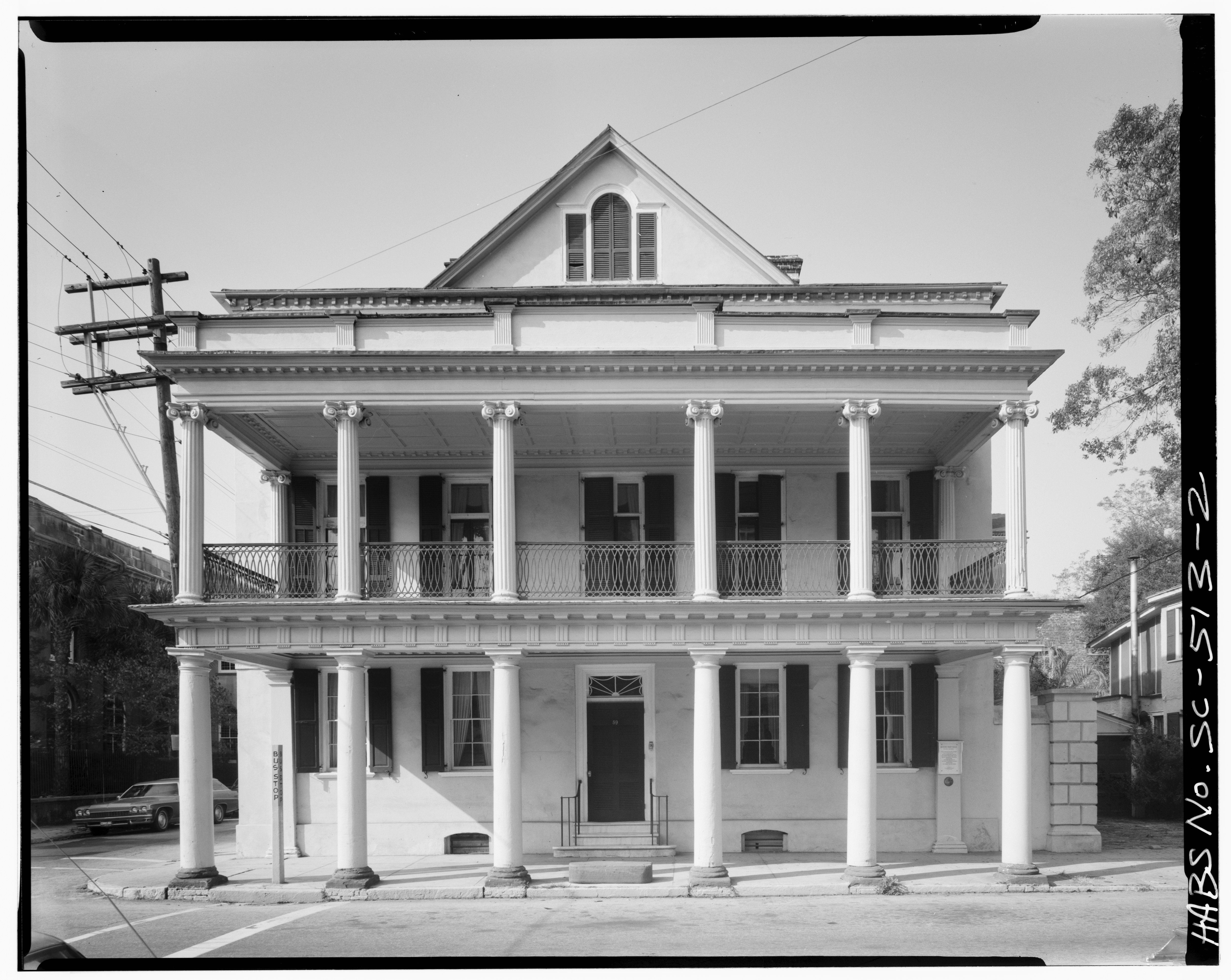 Front Elevation Of House With Porch : File east front elevation porch built ca by
