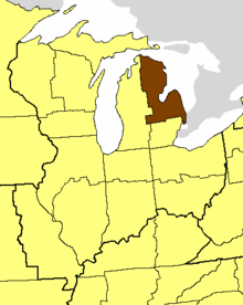 Location of the Diocese of Eastern Michigan