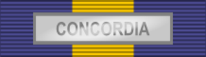 International decoration - Image: ESDP Medal CONCORDIA ribbon bar