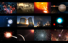 Astronomical photomontage