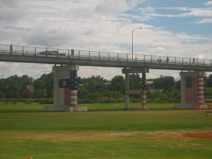 Eagle Pass–Piedras Negras International Bridge - The American side of the Eagle Pass-Piedras Negras International Bridge