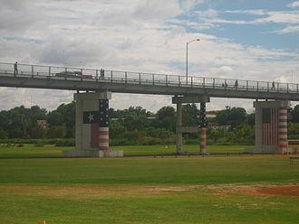 Eagle Pass–Piedras Negras International Bridge - The American side of the Eagle Pass-Piedras Negras International Bridge