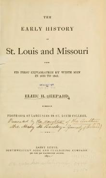 Early History St Louis and Missouri.djvu