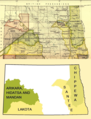 Early Indian treaty territories, North Dakota. Map and overview.png