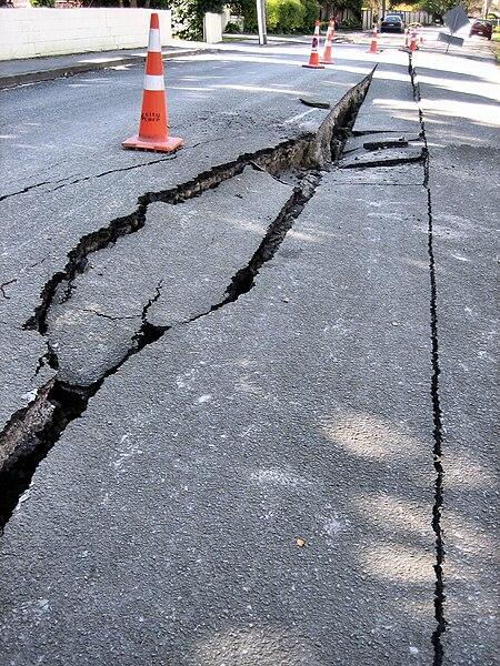 File:Earthquake damage - roads.jpg