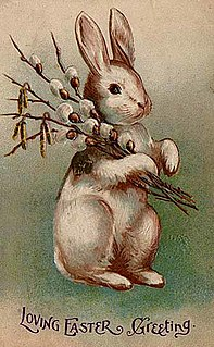 Easter Bunny Folkloric figure and symbol of Easter