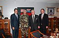 Ed Markey, Mitt Romney, and Ted Kennedy meet with LTG Griffen of the Army Materiel Command.jpg