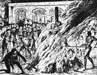 British Anabaptism - Edward Wightman getting burned for heresy