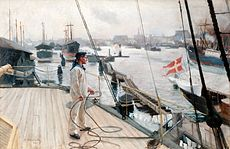 EDELFELT Albert From the port of Copenhagen I, c.1890