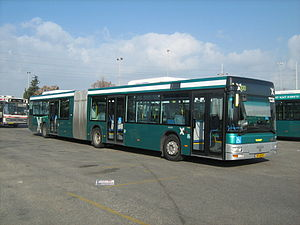 Transport in Israel - Egged articulated bus