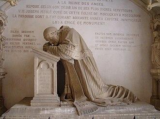 Jean-Marie Valentin - Valentin's monument to Curé Joseph Meslé in the Rennes Église Notre Dame