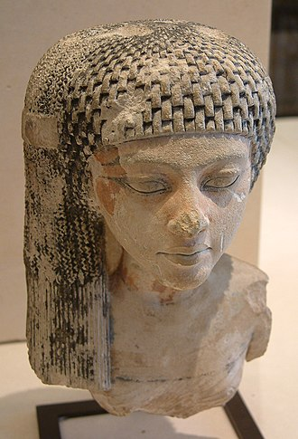 Meritaten - A daughter of King Akhenaten and Queen Nefertiti, perhaps the young Meritaten, later a queen - collection of the Louvre, Paris