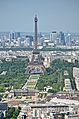 Eiffel Tower from the Tour Montparnasse 1, Paris May 2014.jpg