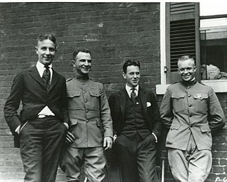 Dwight D. Eisenhower - Eisenhower (far right) with three unidentified men in 1919, four years after graduating from West Point