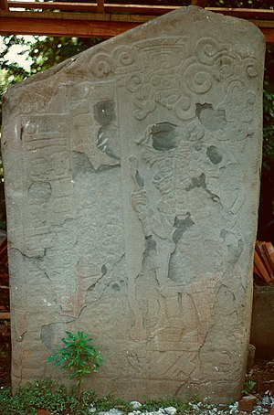 El Baúl - Stela 1, showing one of the earliest Long Count dates yet discovered, March 6, 37 CE (7.19.15.7.12).