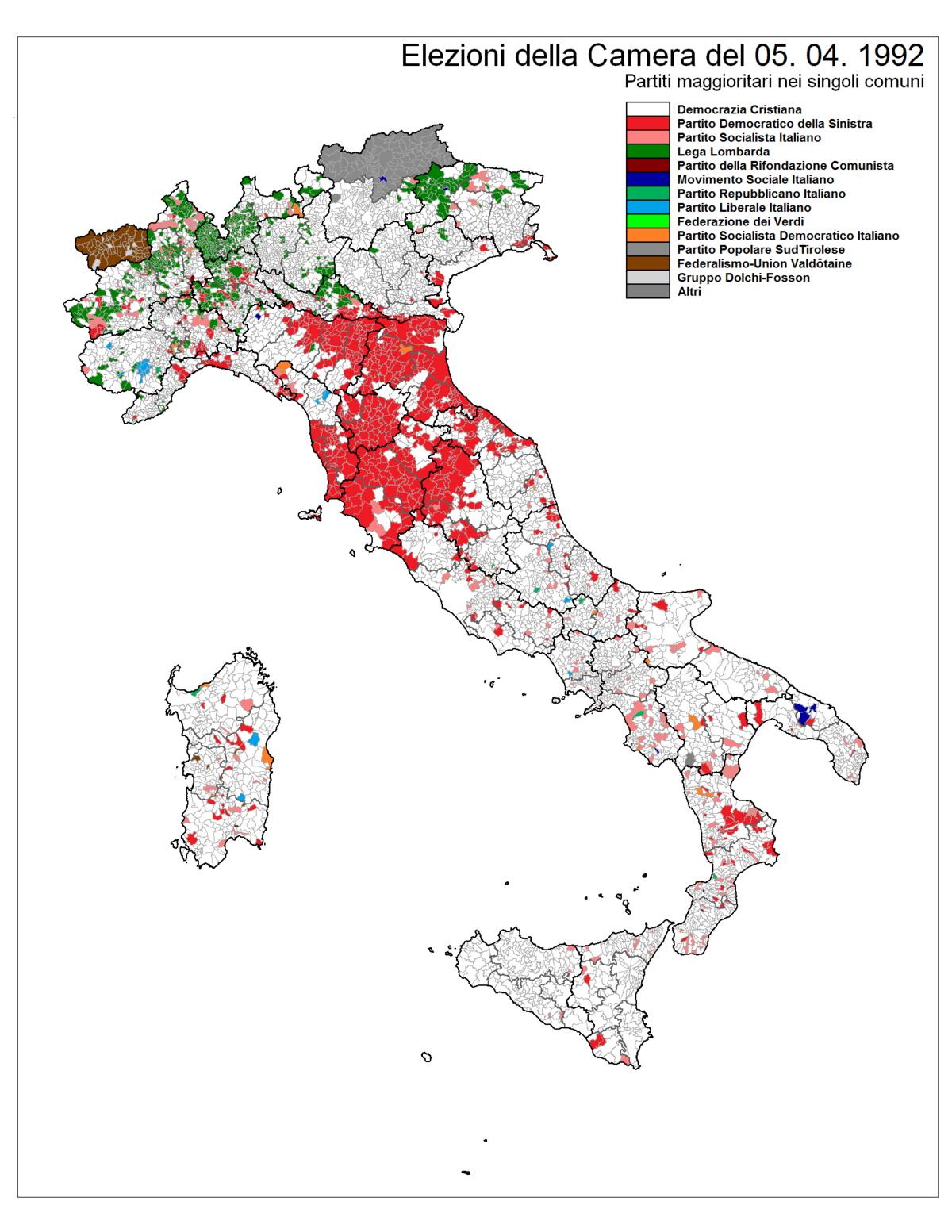Elezioni politiche italiane del 1992 wikipedia for Seggi parlamento italiano