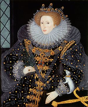 "1550–1600 in Western European fashion - English opulence, Italian reticella lace ruff, (possibly) Polish ornamentation, a French farthingale, and Spanish severity: The ""Ermine Portrait"" of Elizabeth I"